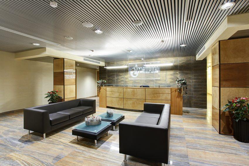 Дизайн интерьера офиса одной из компаний «Газпром» 2
