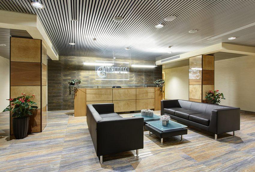 Дизайн интерьера офиса одной из компаний «Газпром» 3