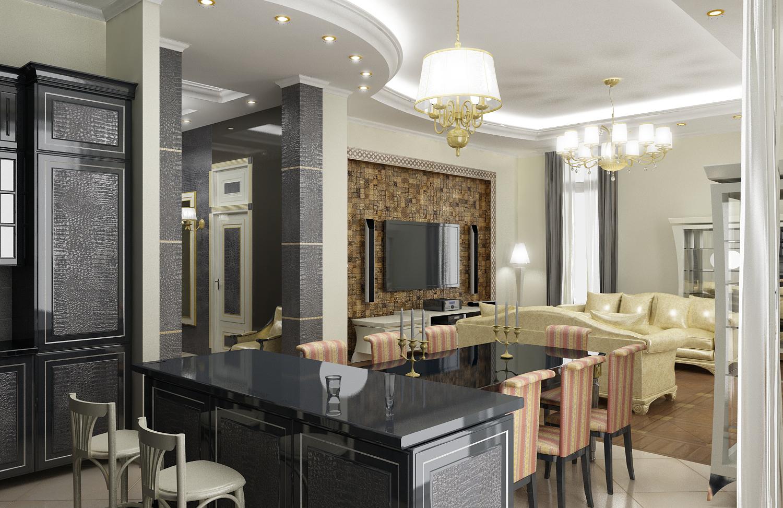 Проектирование квартиры в ЖК «САДОВЫЕ КВАРТАЛЫ» 176М2 5